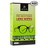 Eyeglass Cleaner Lens Wipes - 400 Pre-Moistened Cleaning Cloths - Glasses Cleaner Wipe Safely Cleans Eye Glasses, Sunglasses, Screens, Electronics, Computer Monitor and Camera Lense   Streak-Free