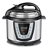 Aucma Electric Pressure Cooker, 6 Qt Multi-Use Pressure Cooker, Rice Cooker, Slow Cooker, Hot Pot + More 1000W