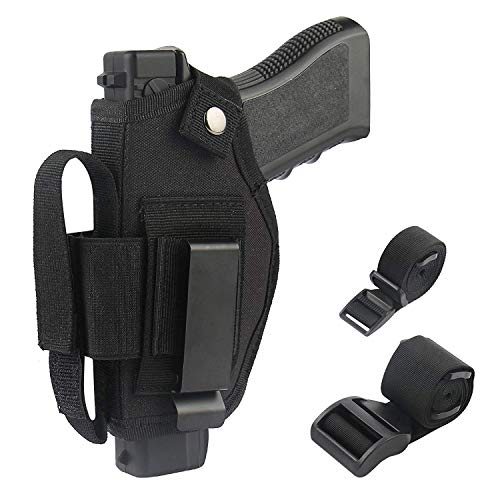 DMAIP Concealed Carry Holster IWB OWB Car Holster with Magazine Slot and 2 Strap Mounts for Right and Left Hand Gun Accessories (X-Large)
