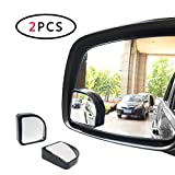 AOTOMIO 2pcs Blind Spot Mirror Adjustable Acrylic Mirror Convex Mirror Car Fan Shaped Mirror Universal Fit Most Cars