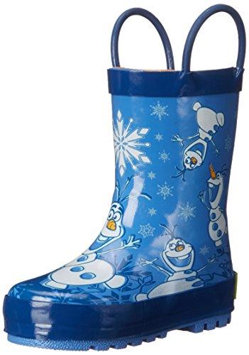 Western Chief Kids Waterproof Disney Character Rain Boots with Easy on Handles, Frozen Warm Hugs, 2 M US Little Kid