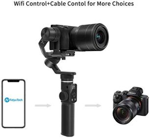 FeiyuTech-G6-Max-3-Axis-Handheld-Gimbal-Stabilizer-G6-Plus-Upgrade-Ver-for-Mirrorless-Camera-Like-Sony-a7-wShort-LensAction-Camera-GoproSmart-Phone-iPhone-11-Pro-Max-812Kg-PayloadSplash-Proof