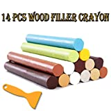 Wax Filler & Wood Filler Total Furniture Repair System Furniture Floor Scratch Hole Wood Scratch Removers -14 Colors-Suitable for All Wood Utensils