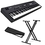 Yamaha MX88 Full-Size 88 Key Graded Hammer Standard Synthesizer Controller with 1000+ MOTIF XS Sounds, VCM FX Engine, Bundled Software with Keyboard Stand, Keyboard Cover, Headphone and Keyboard Cloth