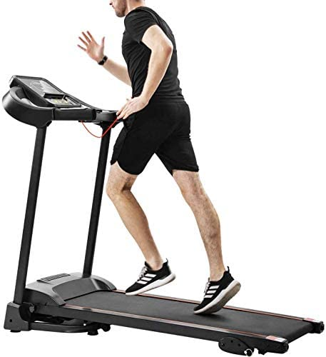 Unique-Shop Treadmills for Home 300 lbs Weight Capacity Folding Motorized Running Jogging Machine with Audio Speakers and Incline 2