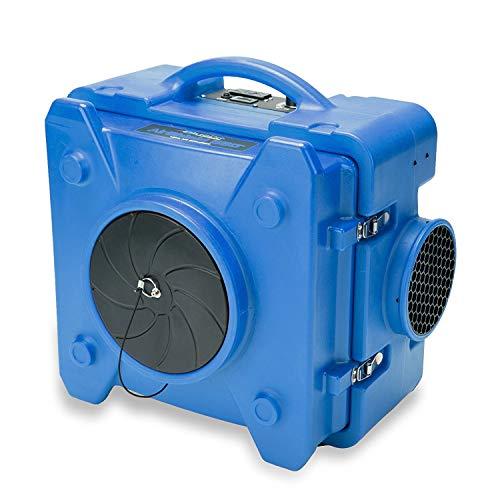 BlueDri BD-AS-550-BL Negative Machine Airbourne Cleaner HEPA Scrubber Water Damage Restoration Equipment for Mold Air Purifier, Single Unit, Blue