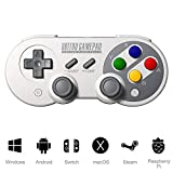 SF30 Pro Gamepad Wireless Bluetooth Game Controller 6-Axis Body Sense Retro Design Gamepad for Android Phone/Tablet/PC/Steam/Nintendo Switch (Support for SFC Game Consoles)