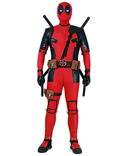 miccostumes Men's Deluxe Cosplay Suit Costume Halloween (XL) Red