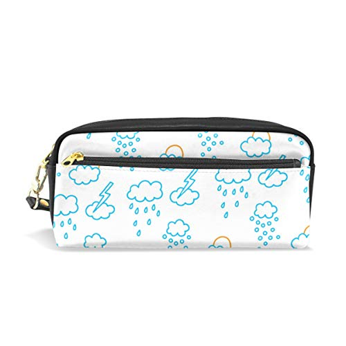 White Rainy Weather Waterproof Travel Toiletry Pouch,Pencil Pen Case Multi-functional Cosmetic Makeup Bag, Fashion Zipper Pouch Purse.