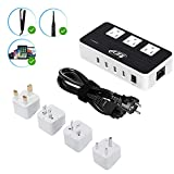 Key Power Step Down 220V to 110V Voltage Converter & International Travel Adapter - [Use for USA appliances Overseas in Europe, Australia, UK, Ireland, Spain, Germany, India, France and More]