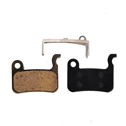 Autoway 4 Pairs Semi-Metallic bicycle DISC BRAKE PADS for Shimano Deore M596 M595 M535 SLX M665 XT M775/776/765 XT/R M975 M966 M965