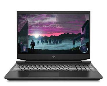 HP Pavilion Gaming 15.6-inch FHD Gaming Laptop (Ryzen 5-4600H/8GB/1TB HDD + 256GB SSD/Windows 10/144Hz/NVIDIA GTX 1650 4GB/Shadow Black), 15-ec1052AX