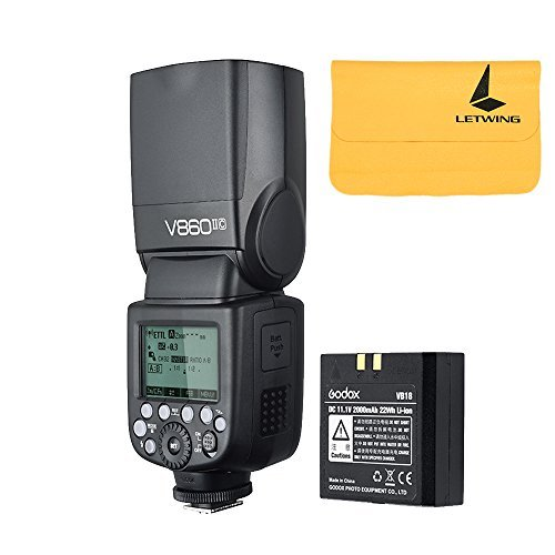 Godox V860II-C Pioneering 2.4G Wireless E-TTL II Li-on Camera Flash Speedlite for Canon 6D 50D 60D 1DX 580EX II 5D Mark II III (V860II-C)