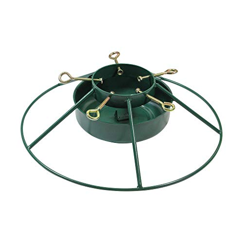 Jack Post Heavy Duty Iron Mountain Christmas Tree Stand - for Real Live Trees Up to 12' Tall