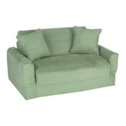 Fun Furnishings Sofa Sleeper, Green