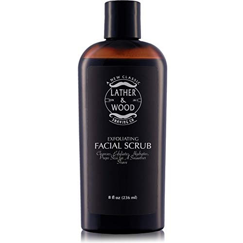 Best Face Wash for Men - Lather & Wood's Face Scrub - Luxurious Exfoliating Mens Face Wash for the...