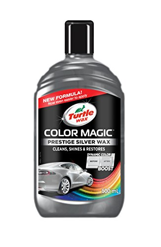 Turtle Wax T4090S Silver Color Magic Plus Colored Car Polish Cleans Shines Restores Scratches Includes Chipstick 500ml
