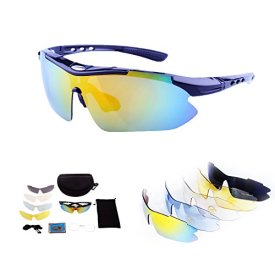 b3a4723dfa774 Polarized Sports Sunglasses for Men Women Cycling Running Driving Fishing  Golf Baseball with Tr90 Unbreakable Frame