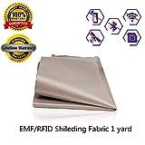 RFID EMF Shielding Nickel Copper Fabric Signal Blocking Material 1 Yard,EMF Shielding, Cell Phone Signal Blocking, Fabric Shielding Fabric (44'' x 36'')