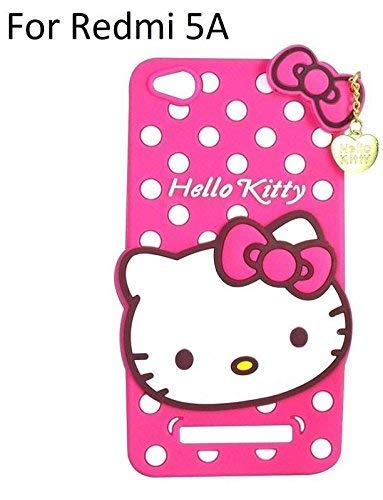 Explocart Hello Kitty Cute Silicone with Pendant Back Cover for Redmi 5A - (Pink) 13