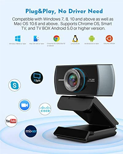 Full HD Webcam 1080P,Streaming Camera,Webcam with Microphone,Wide Angle USB Computer Camera with Facial-Enhancement Technology,Web Cam for Desktop Laptop PC Mac,Video Conferencing Skype YouTube 17