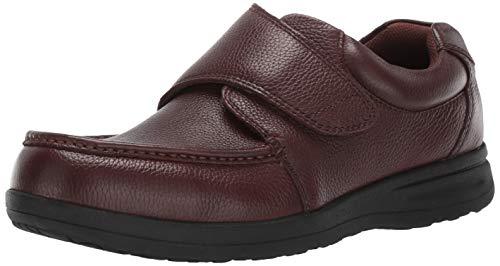 Nunn Bush Men's Cam Strap Hook and Loop Casual Comfortable Lightweight Walking Shoe Loafer, Brown Tumbled, 10.5 Medium US