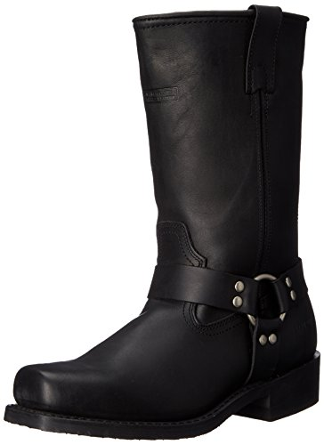 AdTec Men's 11' Harness Motorcycle Boot, Black, 8 W US