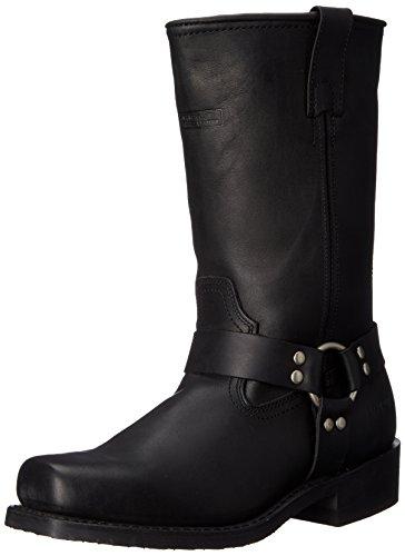AdTec Men's 11' Harness Motorcycle Boot, Black, 8 W US