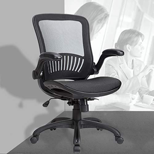 BestOffice Mid-Back Home Office Executive Rolling Swivel Ergonomic Computer Lumbar Support Task Mesh Desk Chairs for Women, Men, Black