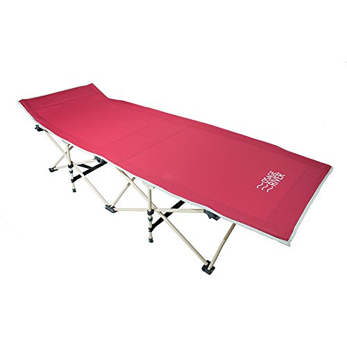 Osage River Folding Camp Cot. Osage River Folding Camp Cot with Carry Bag. Rated up to 300 Lbs. yet weighs only 13 Lbs. For Camping, Traveling, and Home Lounging(Folding Camp Cot - Red)