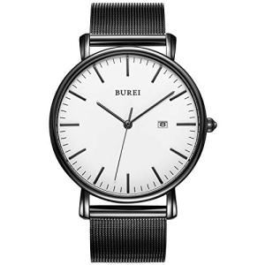 BUREI Men's Fashion Minimalist Wrist Watch Analog Date with Stainless Steel Mesh&Leather Band 15 Fashion Online Shop gifts for her gifts for him womens full figure
