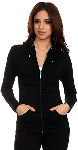 Lotus Lightweight 4-Way Stretch Hooded Active Yoga Fitness Zumba Jacket with Pokets Zip Up/One Size 1 Fashion Online Shop Gifts for her Gifts for him womens full figure