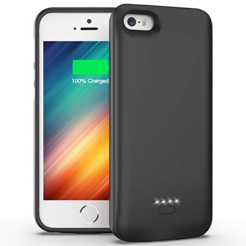 iPhone 5 5S SE Battery Case, 4000mAh Portable Protective Charging Case Extended Rechargeable Charger Case for iPhone 5/ 5S/ SE (4.0 inch)