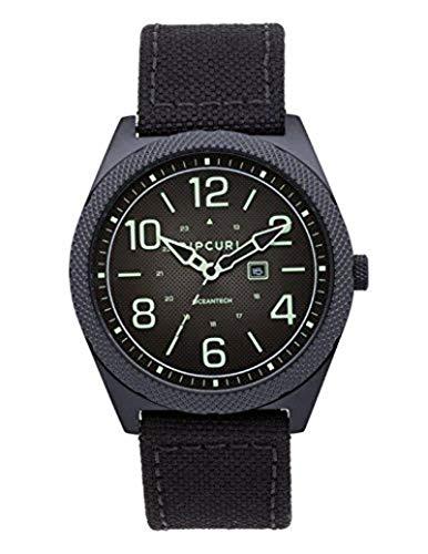 Rip Curl Men's Stainless Steel Quartz Sport Watch with Nylon Strap, Black, 22 (Model: A3098MID1SZ)