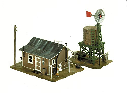 Life-Like-Trains-HO-Scale-Building-Kits-Western-Homestead