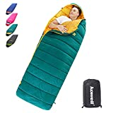 Kowell Camping Sleeping Bags for Adults 40℉- 3 Season Warm & Cold Weather, Lightweight Waterproof Portable Sleeping Bag for Hiking Outdoor Activities