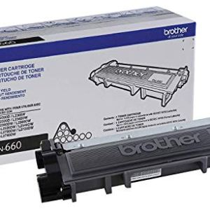 Brother Genuine High Yield Toner Cartridge, TN660, Replacement Black Toner, Page Yield Up To 2,600 Pages, Amazon Dash…