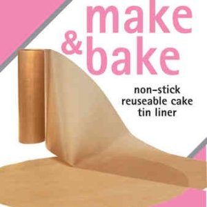 Toastabags Cake Tin Non Stick Reusable Circle and Wall Liner, 8 inch, 9 inch (7 inch), Gold 41Ck6mTMj1L