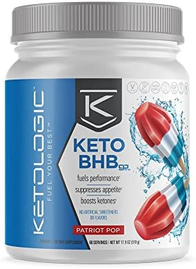 KetoLogic Keto BHB Exogenous Ketones Powder Supplement: Patriot Pop (60 Servings) - Boosts Ketosis, Increases Energy & Focus, Suppresses Appetite – Supports Keto Diet & Weight Management 3