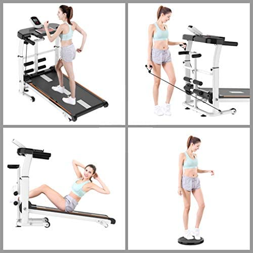 NBSR Folding Treadmill for Home,Treadmills for Women 340lbs Weight Capacity Silent Treadmill Folding Shock Running, Supine, Twisting, Draw Rope 4-in-1 Mechanical Mini Walking Machine 8