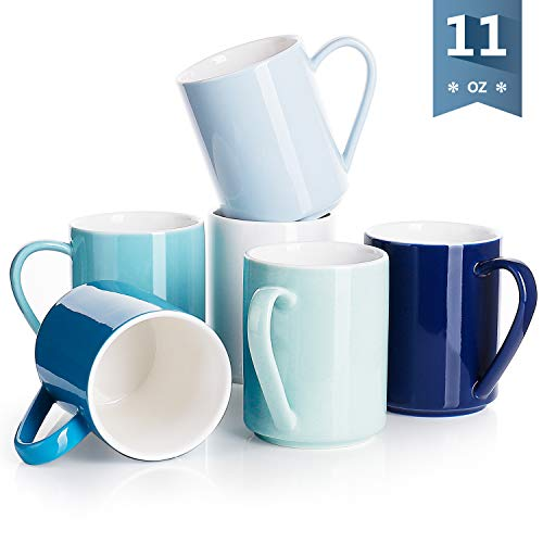 Sweese Porcelain Mugs - 11 Ounce for Coffee, Tea, Cocoa, ZS
