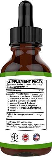 Probiotic for Women and Men – 20 Strain Liquid Probiotic Supplement - Acidophilus Probiotic - Womens Probiotic, Prebiotics and Probiotics - Probiotic for Digestion, Irritable Bowel & Leaky Gut 2