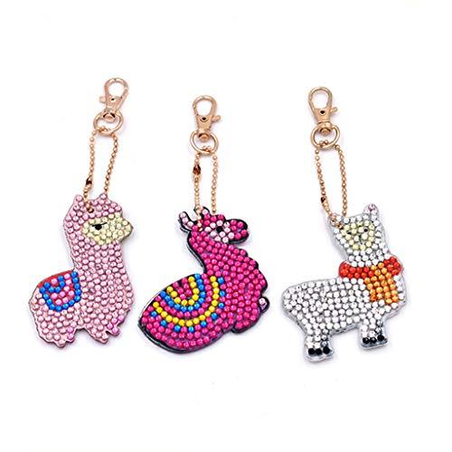 Dermanony Keychain Cartoon Home DIY Jewelry Decorative Stickers Necklace Pendant Key Hang Buckle Key Decor
