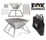 Quick Grill Medium: Original Folding Charcoal BBQ Grill Made from Stainless Steel