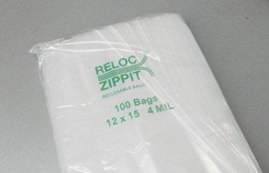 Reloc-Zippit-Bags-12x15-Clear-4-Mil-Reclosable-Bag-12X15-Per-Pack-of-100