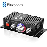 DUTISON HiFi Audio Mini Amplifier - Bluetooth 4.2 Digital 2 Channel 60W Home Stereo Power Amplifiers with Blue LED Indicator Black