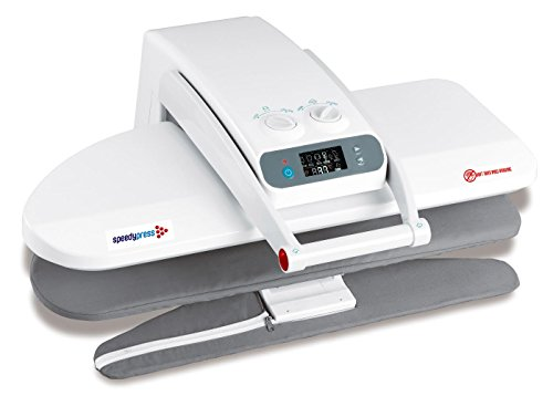 Ironing Press WITH INTEGRATED SLEEVE BOARD, 1400 Watts! for Dry or Steam Pressing, 38 Powerful Jets of Steam, 100lbs of Pressure, INCLUDES EXTRA COVER AND FOAM ($35 Value)! (Medium)