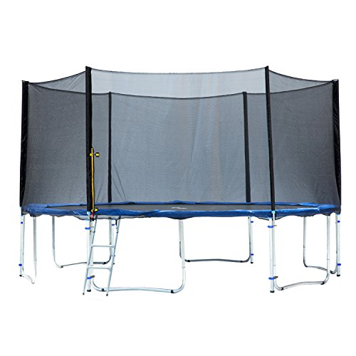 Exacme 6W Legs Trampoline with Safety Pad & Enclosure Net & Ladder All-in-One Combo Set, 15'