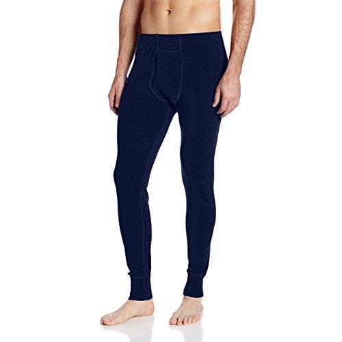 Minus33 Merino Wool Clothing Men's Kancamagus Midweight Bottom, Large, Navy