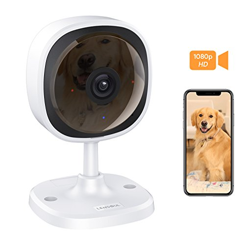 Security Camera, Lensoul 1080P HD Wireless IP Camera Built in Two-Way Audio, Motion Detection, 2.4G Security Surveillance CCTV Camera Night Vision-Cloud Service Available (Ordinary)
